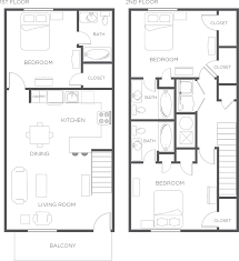 Floor Plan For 3 Bedroom Flat by 3 Bedroom Apartment Townhome Floor Plan Wildwood Lubbock