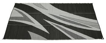 Camco Awning Mat Faulkner Rv Mat Summer Waves Black And White 8 U0027 X 16