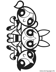 Powerpuff Girls Cartoon Coloring Pages Printable Power Puff Coloring Page