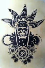 new school tattoo drawings black and white tatuajes de ataúdes tradicionales pinteres