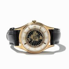 World Map Watch Stowa Vintage World Map Wristwatch Germany Around 1955