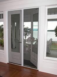 door retractable screen doors with wooden floor for family room