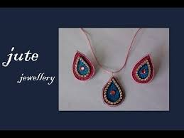 jute earrings jute jewellery tutorial
