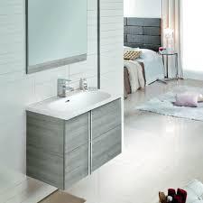 Grey Vanity Unit Onix Designer 600mm 2 Drawer Vanity Unit Sandy Grey Ro22797