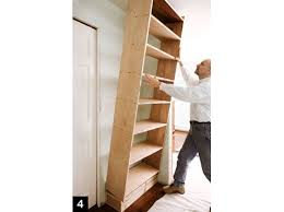 Woodworking Plans Free Standing Shelves by How To Build A Bookcase Step By Step Woodworking Plans