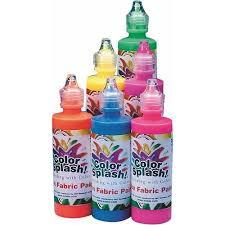 color splash neon fabric paint 4 oz set of 6 walmart com