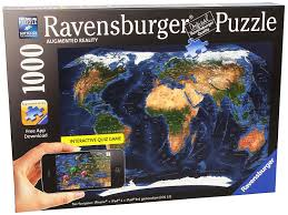 Asia Map Quiz Game by Amazon Com Satellite World Map Augmented Reality Jigsaw Puzzle