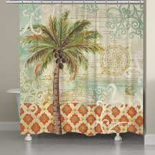 spice palm shower curtain u2013 laural home
