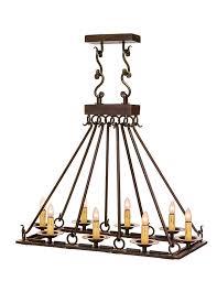 Rectangular Iron Chandelier Gothica 8 Light Rectangle Chandelier