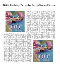 100th birthday party games free printable games and activities