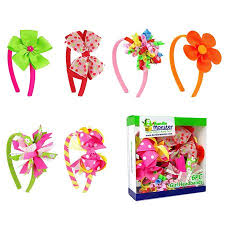 bundle interchangeable 3in1 ribbon bow baby hair clip