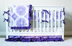 Purple Nursery Bedding Sets by Crib Sheets Purple Creative Ideas Of Baby Cribs