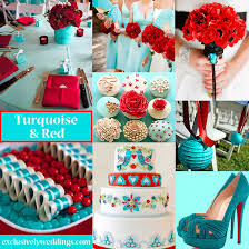 wedding colors turquoise wedding color seven combinations exclusively