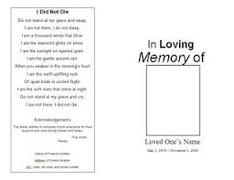 template for funeral program selfie funeral program template free funeral program template