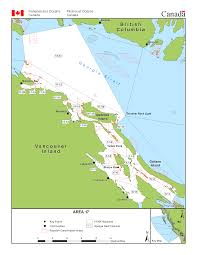 Pacific Region Map Fisheries Management Area 17 Nanoose Bay Galiano Island