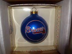 atlanta braves filigree mini replica baseball ornament
