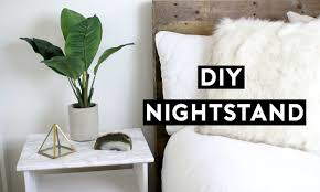 Ikea White Bedroom Side Tables Diy Marble Nightstand Affordable Room Decor Simple Ikea Hack