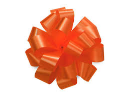 bows orange gift pull bows wrapping set