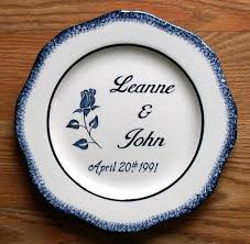 anniversary plates wedding plates
