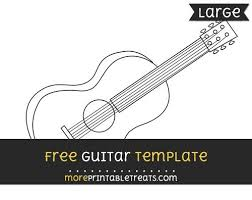free guitar template large shapes and templates printables