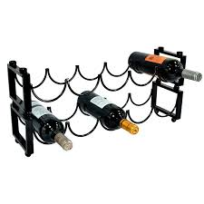 amazon com modern stackable black metal 5 bottle wine cellar wire