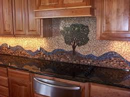 rock kitchen backsplash creative design river rock backsplash for kitchen decoration