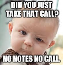 Meme Notes - skeptical baby meme imgflip