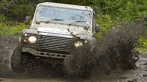 lexus v8 in defender defender challenge where metal meets mud