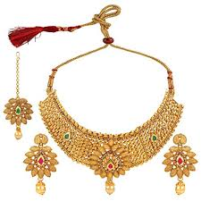 bridal choker necklace images Efulgenz indian bollywood traditional gold plated faux jpg
