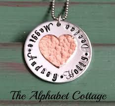grandkids necklace grandkids hammered heart necklace necklace grandkids