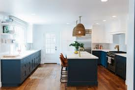blue and white kitchen ideas a moment navy and white kitchen cabinets nelson