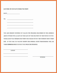 6 tenant vacate notice sample notice letter