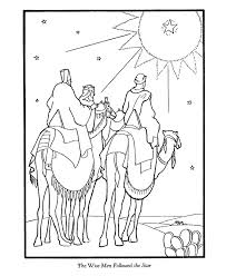 bible printables christmas story coloring pages wise