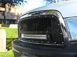 dodge ram 1500 grill rigid industries 2009 12 ram 1500 grille w 30 rds led light bar