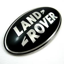 black land rover land rover freelander 1 black silver rear door badge oval logo