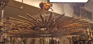 Sunburst Chandelier Large Sunburst Light Fixture Carlos De La Puente Antiques
