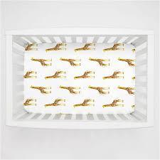 Sheets For Mini Crib Painted Giraffe Mini Crib Sheet Carousel Designs