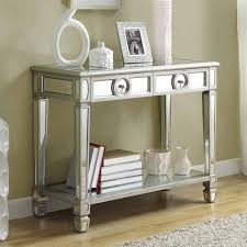 Monarch Specialties I  Mirrored Console Table Lowes Canada - Sofa table canada