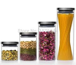 clear glass canisters for kitchen 1pc 4 size large capacity transparent glass canister kitchen