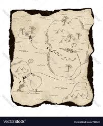 Blank Pirate Treasure Map by Treasure Map Royalty Free Vector Image Vectorstock