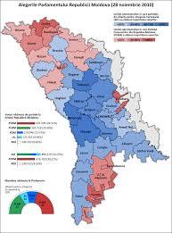 Moldova Map Moldova Legislative Election 2010 Electoral Geography 2 0