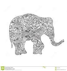 elephant zentangle stock illustration image 55103878