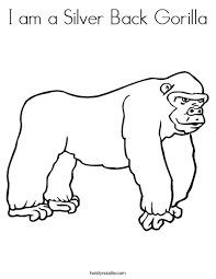 coloring page of gorilla i am a silver back gorilla coloring page twisty noodle