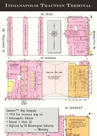 Bloomington Ca Map Penny Post Interurban Station Historic Indianapolis All