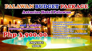 palawan budget package for only p3 900