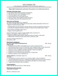 Summary Section Of Resume Example Criminal Justice Resume Sample Resume For Your Job Application