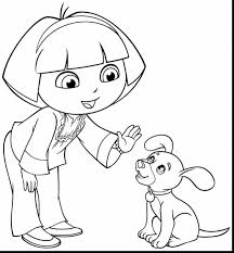 remarkable dora printable coloring pages dora coloring