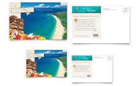 island brochure template hawaii travel vacation postcard template word publisher