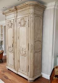 Wooden Armoire Wardrobe Antique Armoir French Style Rustique Français Pinterest