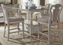 magnolia manor antique white rectangular counter height dining